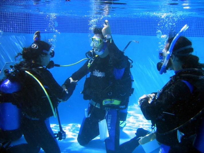indoor scuba diving